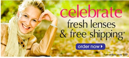 celebrate fresh lenses and free shipping. Order now