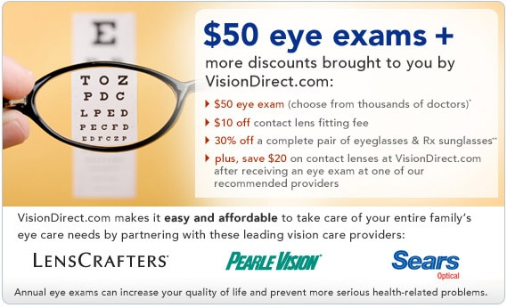 great discounts brought to you by VisionDirect