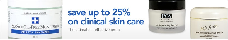 save up to 25% on clinical skin care