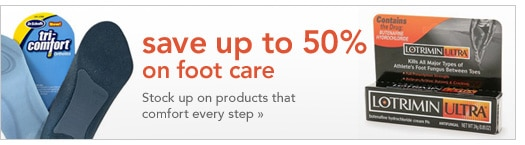 save up to 50% on foot care products