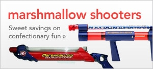 marshmallow shooters, sweet savings on confectionary fun