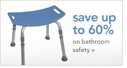 save up to 60 percent on bathroom safety