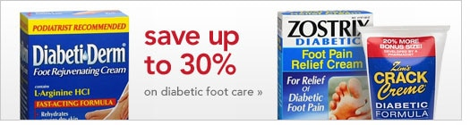 save up to 30 percent on diabetic foot care
