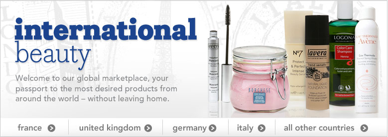 International Beauty. Welcome to our global marketplace. 