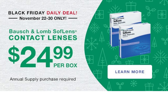 Sears Black Friday Daily Deal | Bausch & Lomb SofLens Daily Disposables