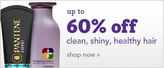 up to 60% off products for clean, shiny, healthy hair care, shop now