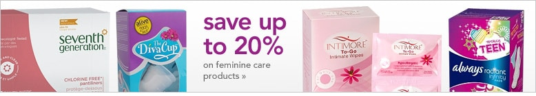 special offers on feminine care products