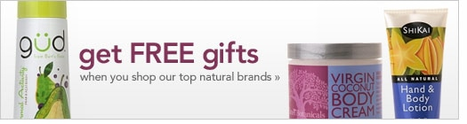 Free natural beauty girfts with purchase