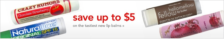 Save up to $5 on the tastiest new lip balms