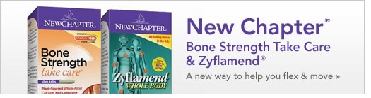New Chapter Bone Strength Take Care & Zyflamend, a new way to help you flex and move
