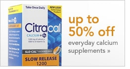 up to 50% off everyday calcium supplements