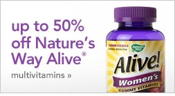 up to 50% off Nature's Way Alive multivitamins
