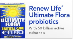 Renew Life Ultimate Flora probiotics With 50 billion active cultures