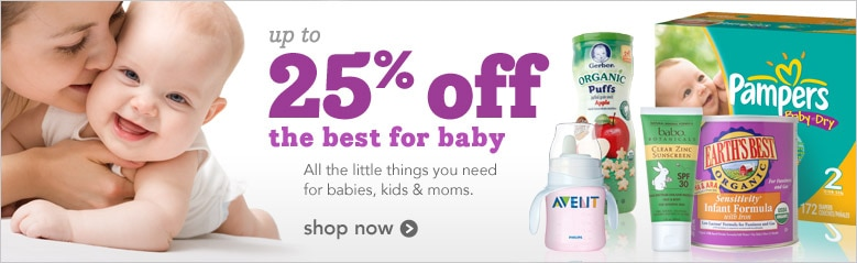 save up to 25 percent on things for baby