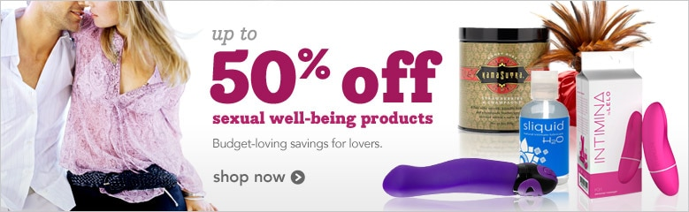 up to 50% off sexual well-being products