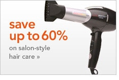 save up to 60% on salon-style hair care