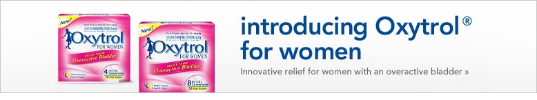 introducing Oxytrol innvoative relief for women with overactive bladder