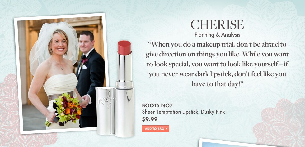 Cherise suggests Boots No7 Dusky Pink Lipstick