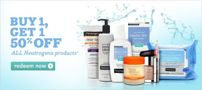Neutrogena buy 1 get 1 50% off offer ends 9/17 | click to redeem