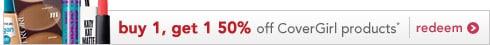 CoverGirl BOGO50 offer ends 8/27/16 | redeem now