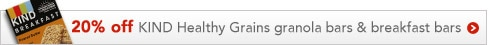 20% off KIND Healthy Grains granola bars & breakfast bars | offer ends 8/31