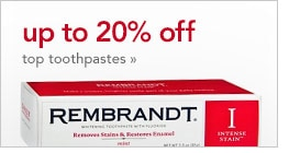 save up to 20% on toothpaste