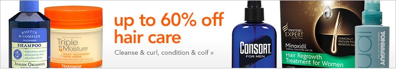 up to 60% off hair care