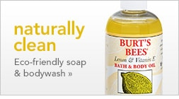 eco-friendly soap and bodywash