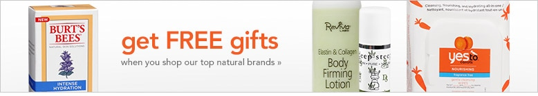 get free gifts when you shop our top natural brands