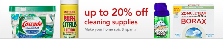 up to 20% off cleaning supplies