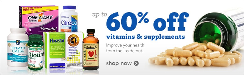 up to 60% off vitamins and supplements | improve your health from the inside out