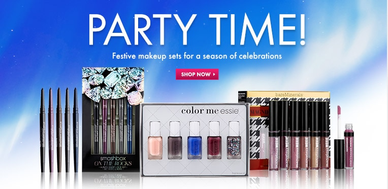Party Hearty with Festive makeup sets