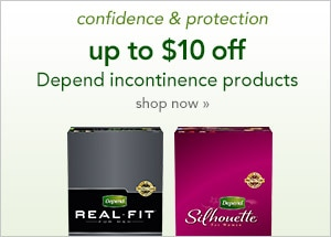 up to $10 off Depend incontinence products shop now