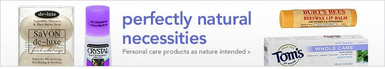 perfectly natural necessities, personal care products as nature intended