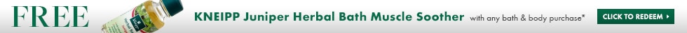 free Kneipp herbal bath with any Beauty.com bath and body purchase