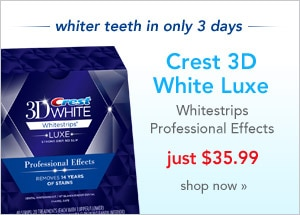 whiter teeth in only 3 days, Crest 3D White Luxe