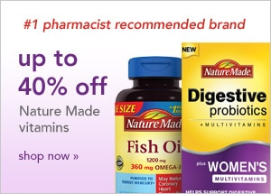 up to 40% off Nature Made vitamins