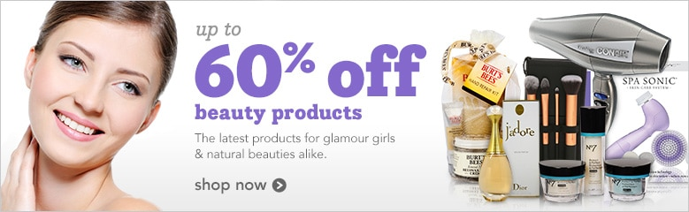 up to 60% off beauty products | the latest products for glamour girls and natural beauties alike