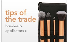 tips of the trade, brushes and applicators