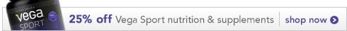 25% off Vega Sport nutrition & supplements
