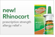 new! Rhinocort prescription strength allergy relief