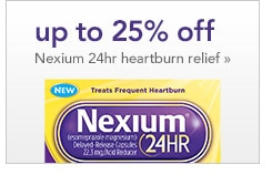 up to 25% off Nexium 24hr heartburn relief