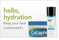 hello hydration, keep your face moisturized