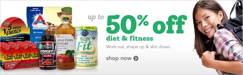 up to 50% off diet and fitness products | work out, shape up and slim down