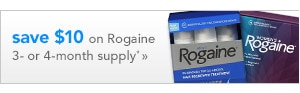 Save $10 on Rogaine 3 or 4 month supply