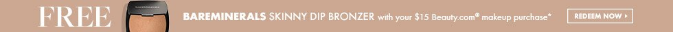 Click to redeem free BareMinerals Skinny Dip Bronzer with any $15 in-stock makeup purchase at Beauty.com
