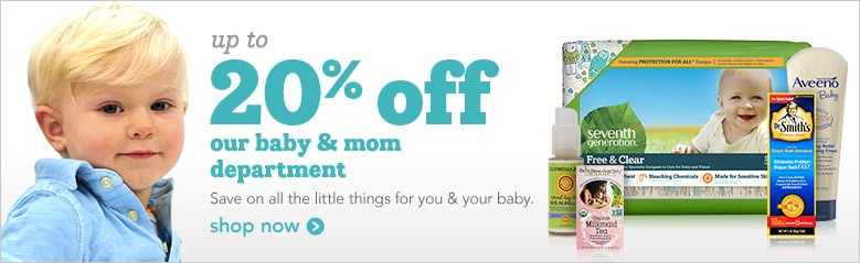 up to 20% off baby and mom | save on all the little things for your little ones