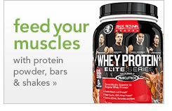 feed your muscles with protein powders, bars & shakes