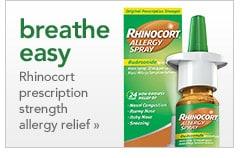 breathe easy, Rhinocort prescription strength allergy relief
