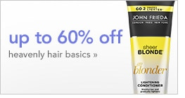 up to 60% off heavenly hair basics